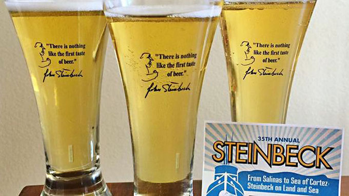 Image of John Steinbeck beer served in Salinas, California