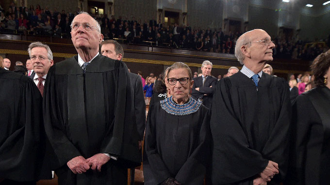 Image of members of the Supreme Court