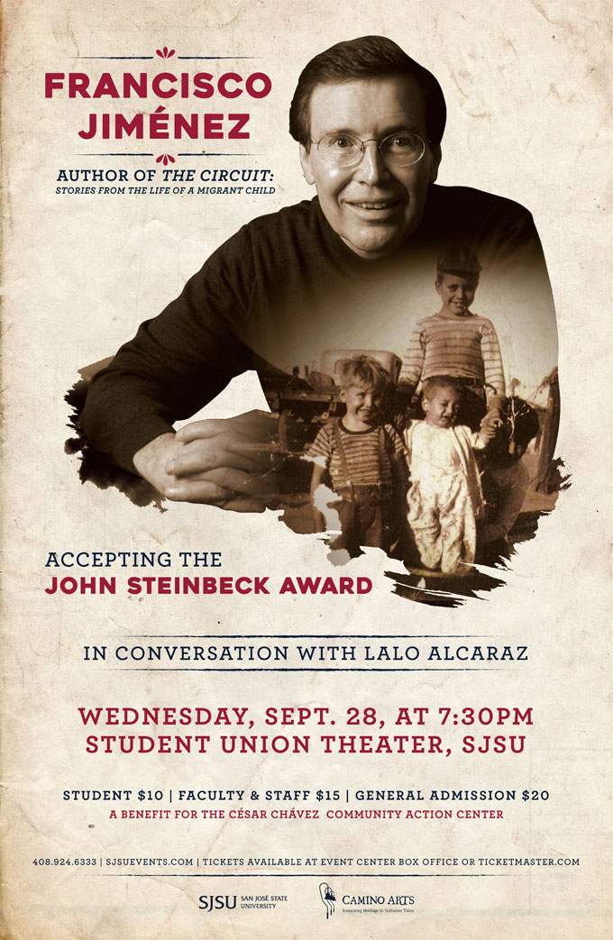 Image of Francisco Jimenez award event poster