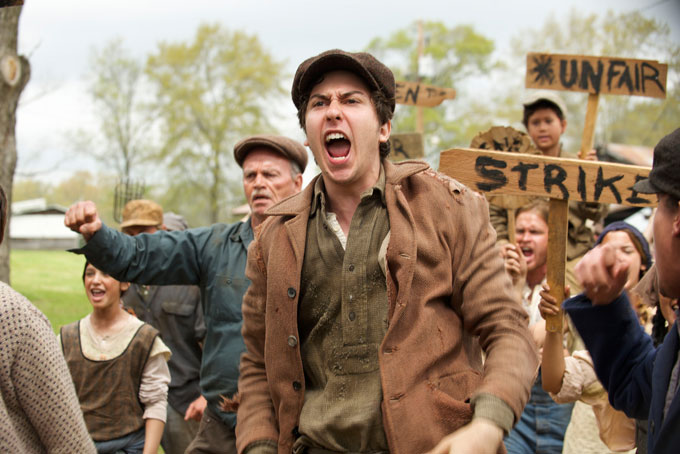 Image of scene from James Franco's film adaptation of Steinbeck's In Dubious Battle
