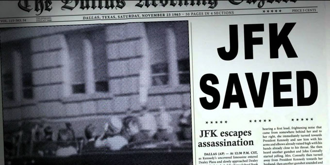 Image of alternate history newspaper from Stephen King's 11/22/63