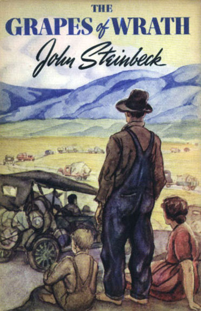 "Cover image of John Steinbeck's ""The Grapes of Wrath"""