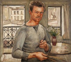 Image of self-portrait by Henry Varnum Poor