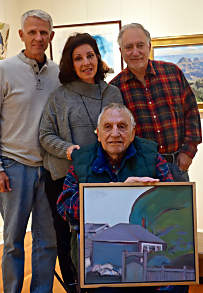Image of Gregory Kondos family in Pacific Grove