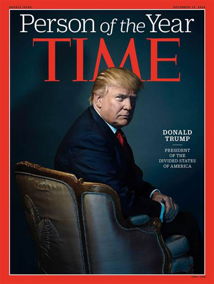 Image of Donald Trump as Time's Person of the Year