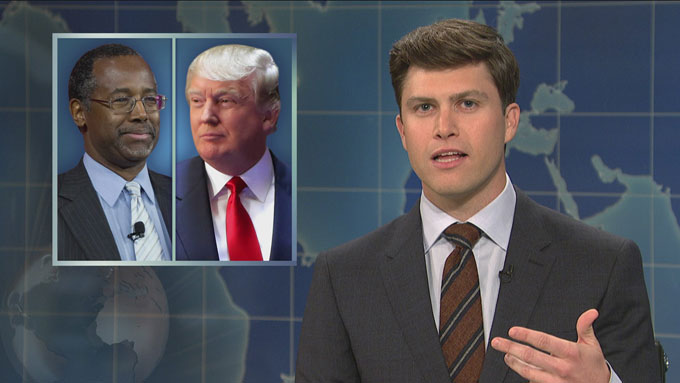 Image of Weekend Update anchor Colin Jost on Saturday Night Live