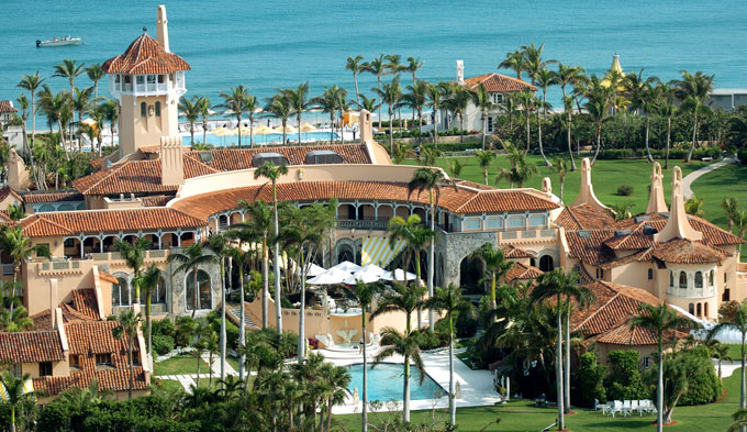 Image of Donald Trump's Palm Beach estate Mar-a-Lago