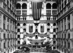Image of the Old Post Office Pavilion in 1920