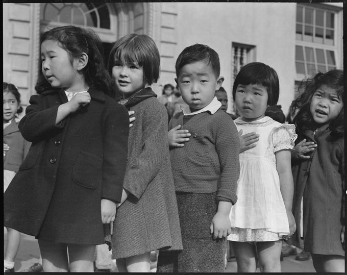 Image of Dorthea Lange's photograph of Japanese internment