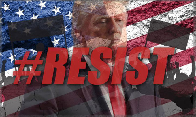 "Image of ""Resist Donald Trump"""