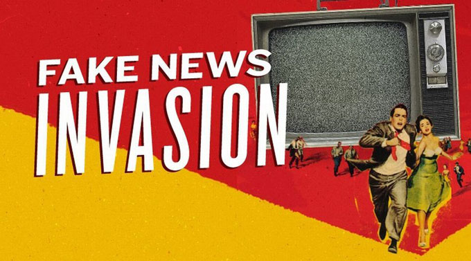 "Image of ""fake news' invasion"