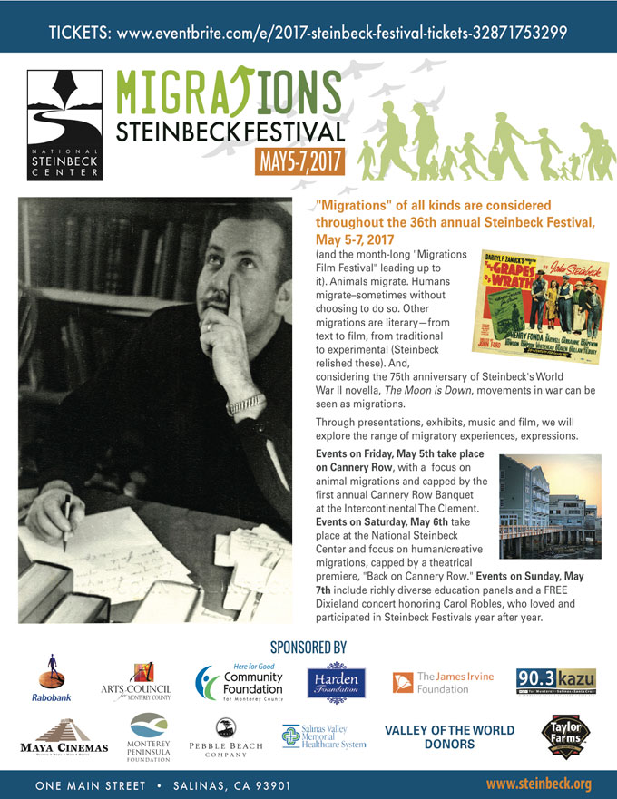 Image of 2017 John Steinbeck festival schedule