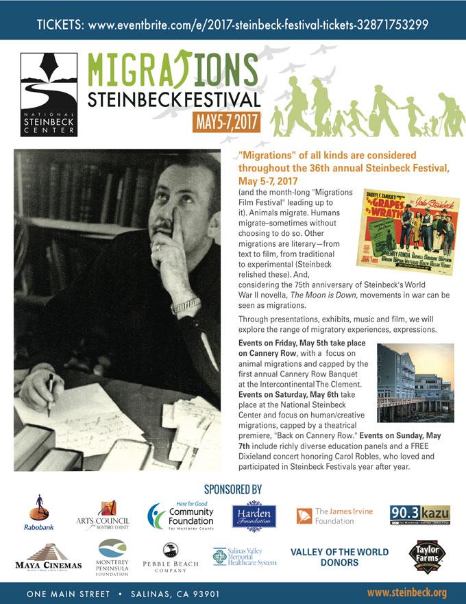 Image of 2017 John Steinbeck festival schedule