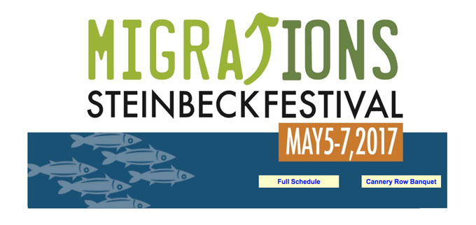 Poster image of Migrations, theme of 2017 John Steinbeck festival