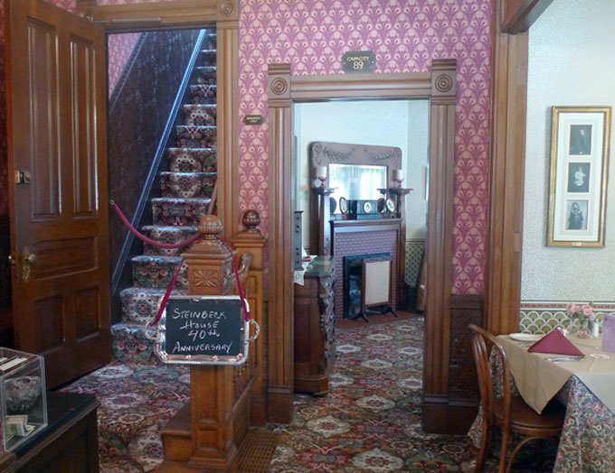 Image of Steinbeck House interior in Salinas, California