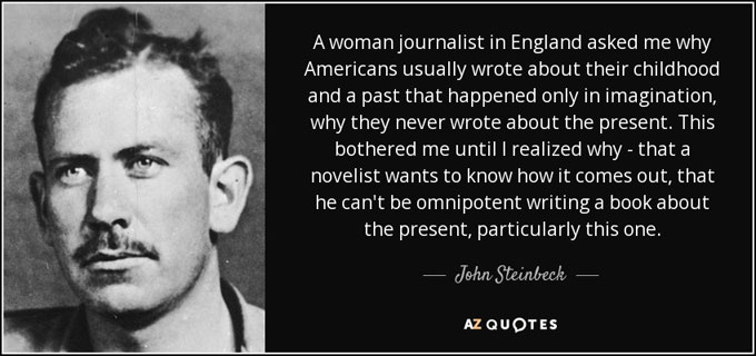 Composite image of John Steinbeck on journalism