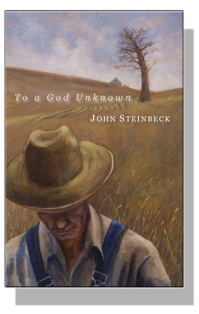 Cover image from John Steinbeck's novel To a God Unknown