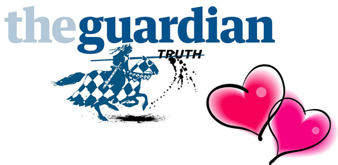 Image of The Guardian newspaper's truth logo