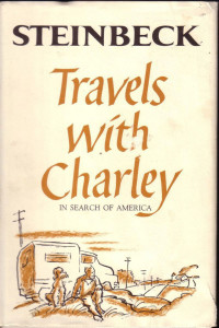 Cover image from John Steinbeck's 1962 book Travels with Charley