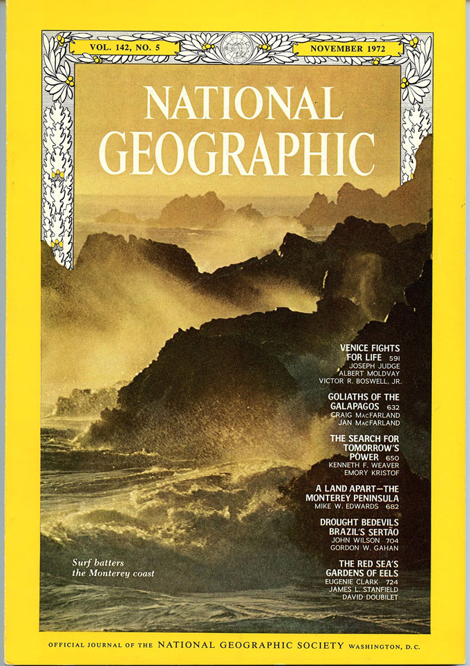 Cover image from November 1972 National Geographic