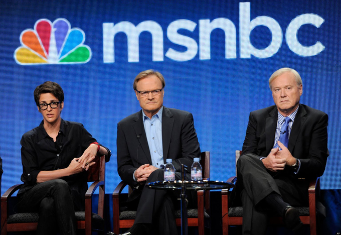 Image of Rachel Maddow, Lawrence O'Donnell, and Chris Matthews