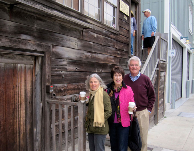 Image of Nancy Hauk and friends in front of Doc's Lab