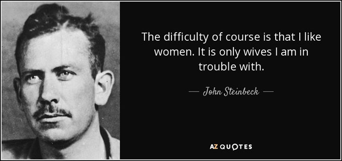 Image of John Steinbeck quotation about women