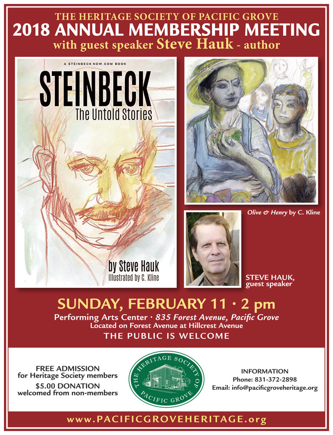Image of February 11, 2018 Pacific Grove Heritage Society event poster