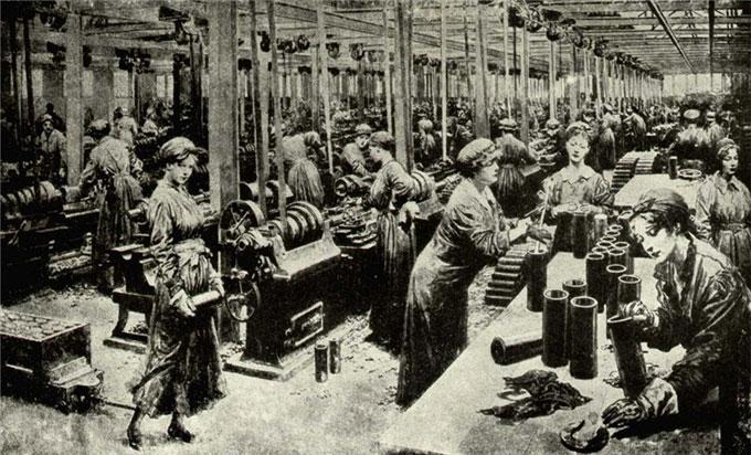 Image of women working in German factory