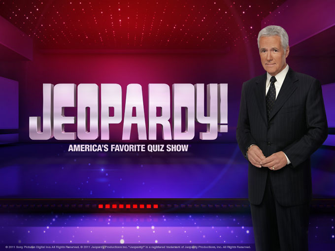 Image of Jeopardy game show host Alex Trebek
